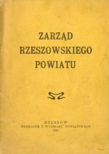 Zarząd rzeszowskiego powiatu