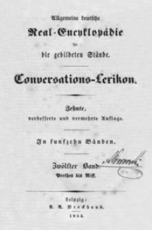 Allgemeine deutsche Real-Encyklopädie für die gebildeten Stände : Conversations-Lexicon. Bd. 12, Perthes bis Riff