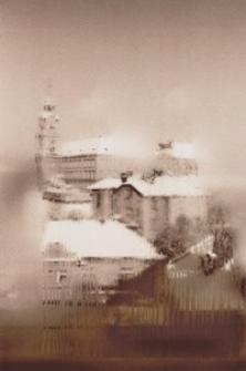Zamek w zimowej szacie