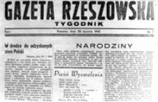 """[Winieta """"Gazety Rzeszowskiej"""" - pierwszego dziennika wydawanego po wojnie w Rzeszowie] [Fotografia]"""