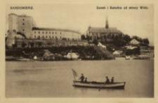 Sandomierz. Zamek i Katedra od strony Wisły [Widokówka czysta]