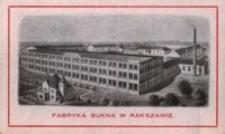 Fabryka Sukna w Rakszawie [Widokówka czysta]