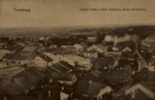 Tarnobrzeg. Ogólny widok z wieży klasztoru, strona południowa [Pocztówka]