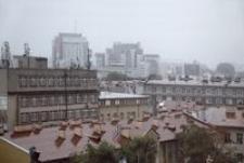 Widok z okna w kier. zach - letni deszcz [Fotografia]