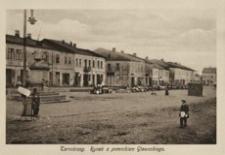 Tarnobrzeg. Rynek z pomnikiem Głowackiego [Widokówka czysta]