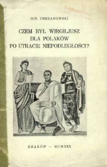 Czem był Wergiljusz dla Polaków po utracie niepodległości?