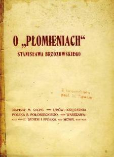 """O """"Płomieniach"""" Stanisława Brzozowskiego"""