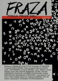 Fraza : poezja, proza, esej. 2014, R. 23, nr 86