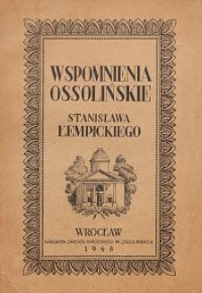 Wspomnienia ossolińskie
