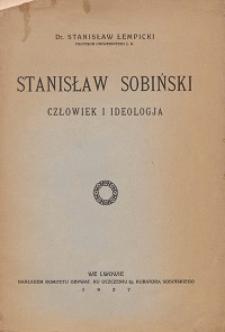 Stanisław Sobiński : człowiek i ideologia : przemówienie na akademii żałobnej w Teatrze Wielkim w dniu 2 lutego 1927 r.