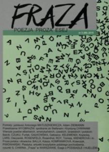 Fraza : poezja, proza, esej. 2015, R. 24, nr 89
