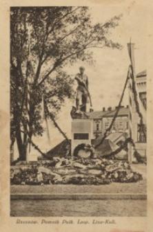 Rzeszów. Pomnik Pułk. Leop. Lisa-Kuli [Pocztówka]