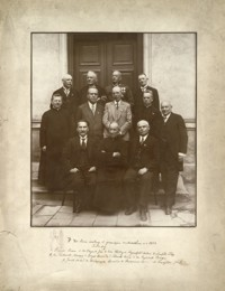 [Fotografia zbiorowa z Rzeszowa: 40-lecie matury w gimnazjum rzeszowskim w roku 1932]