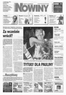 Nowiny : gazeta codzienna. 1999, nr 192-212 (październik)