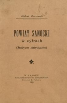 Powiat sanocki w cyfrach : (studium statystyczne)