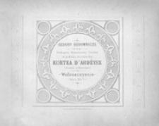 Wzory do ćwiczeń w rysunku cyrklowym dla użytku młodzieży szkolnej : ozdoby budownicze z cerkwi w Kurtea d'Ardżysz (Curtea d'Argyisch) na Wołoszczyznie (wiek XVI), przerobione z kartonów zdiętych z natury (45 Tablic)