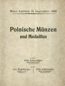 Sammlung des Herrn M. Frankiewicz in Posen: polnische Münzen und Medaillen mit 19 Lichtdrucktafeln