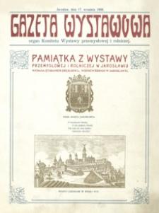 Gazeta Wystawowa : organ Komitetu Wystawy przemysłowej i rolniczej. 1908, nr 1-8 (sierpień-wrzesień)