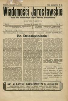 Wiadomości Jarosławskie : organ Koła Jarosławskiego Związku Naprawy Rzeczypospolitej. 1928, R. 1, nr 41 (listopad)