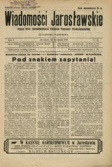 Wiadomości Jarosławskie : organ Koła Jarosławskiego Związku Naprawy Rzeczypospolitej. 1928, R. 1, nr 42 (listopad)