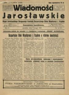 Wiadomości Jarosławskie : organ Jarosławskiego Okręgowego Komitetu Bezpartyjnego Bloku Współpracy z Rządem. 1929, R. 2, nr 5 (luty)