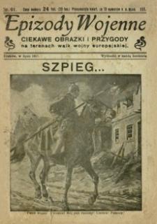 Epizody Wojenne : ciekawe obrazki i przygody na terenach walk wojny europejskiej. 1917, R. 3, nr 91 (lipiec)