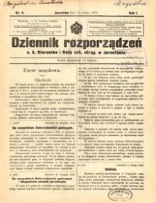 Dziennik rozporządzeń c. k. Starostwa i Rady szk[olnej] okręg[owej] w Jarosławiu. 1900, R. 1, nr 4 (luty)