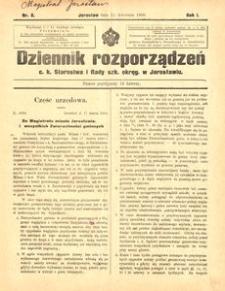 Dziennik rozporządzeń c. k. Starostwa i Rady szk[olnej] okręg[owej] w Jarosławiu. 1900, R. 1, nr 8 (kwiecień)
