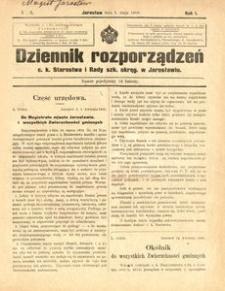 Dziennik rozporządzeń c. k. Starostwa i Rady szk[olnej] okręg[owej] w Jarosławiu. 1900, R. 1, nr 9 (maj)