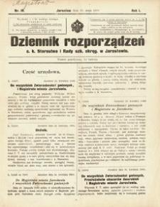Dziennik rozporządzeń c. k. Starostwa i Rady szk[olnej] okręg[owej] w Jarosławiu. 1900, R. 1, nr 10 (maj)