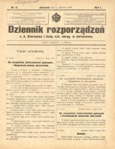 Dziennik rozporządzeń c. k. Starostwa i Rady szk[olnej] okręg[owej] w Jarosławiu. 1900, R. 1, nr 11 (czerwiec)