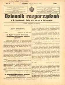 Dziennik rozporządzeń c. k. Starostwa i Rady szk[olnej] okręg[owej] w Jarosławiu. 1900, R. 1, nr 12 (czerwiec)