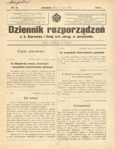 Dziennik rozporządzeń c. k. Starostwa i Rady szk[olnej] okręg[owej] w Jarosławiu. 1900, R. 1, nr 13 (lipiec)