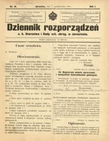 Dziennik rozporządzeń c. k. Starostwa i Rady szk[olnej] okręg[owej] w Jarosławiu. 1900, R. 1, nr 19 (październik)