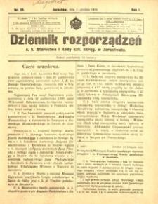 Dziennik rozporządzeń c. k. Starostwa i Rady szk[olnej] okręg[owej] w Jarosławiu. 1900, R. 1, nr 23 (grudzień)