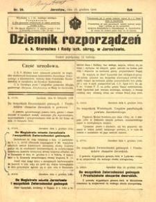 Dziennik rozporządzeń c. k. Starostwa i Rady szk[olnej] okręg[owej] w Jarosławiu. 1900, R. 1, nr 24 (grudzień)
