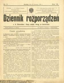 Dziennik rozporządzeń c. k. Starostwa i Rady szkoln[ej] okręg[owej] w Jarosławiu. 1906, R. 7, nr 2 (styczeń)