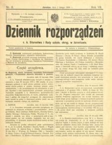 Dziennik rozporządzeń c. k. Starostwa i Rady szkoln[ej] okręg[owej] w Jarosławiu. 1906, R. 7, nr 3 (luty)