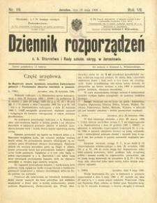 Dziennik rozporządzeń c. k. Starostwa i Rady szkoln[ej] okręg[owej] w Jarosławiu. 1906, R. 7, nr 10 (maj)