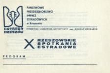 10. Rzeszowskie Spotkania Estradowe : program