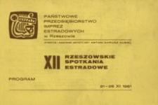 12. Rzeszowskie Spotkania Estradowe : program
