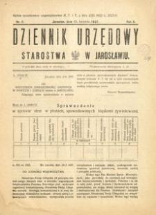 Dziennik Urzędowy Starostwa w Jarosławiu. 1927, R. 2, nr 8 (kwiecień)