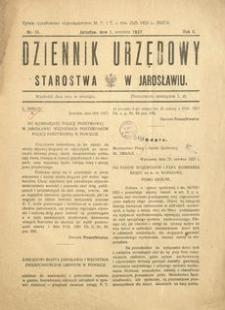 Dziennik Urzędowy Starostwa w Jarosławiu. 1927, R. 2, nr 18 (wrzesień)