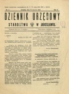 Dziennik Urzędowy Starostwa w Jarosławiu. 1928, R. 3, nr 2 (styczeń)