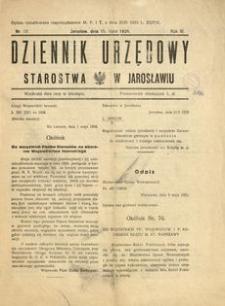 Dziennik Urzędowy Starostwa w Jarosławiu. 1928, R. 3, nr 12 (lipiec)