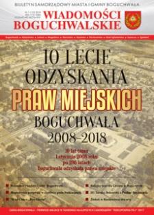 Wiadomości Boguchwalskie : biuletyn samorządowy miasta i gminy Boguchwała : Boguchwała, Kielanówka, Lutoryż [...]. 2018, nr 1
