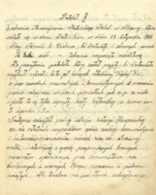 [Protokoły zebrań Katolickiego Stowarzyszenia Kobiet Oddział w Albigowej: 1936-1939]