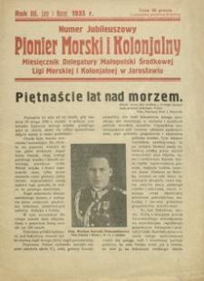 Pionier Morski i Kolonjalny : miesięcznik Delegatury Małopolski Środkowej Ligi Morskiej i Kolonjalnej w Jarosławiu. 1935, R. 3, [nr 2-3] (luty-marzec)