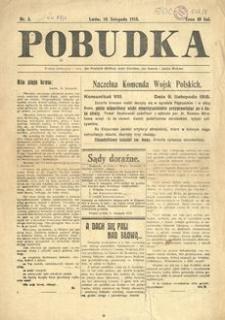 Pobudka. 1918, nr 5 (10 listopada)