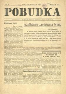Pobudka. 1918, nr 15 (20 listopada)